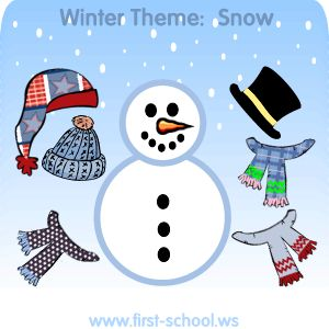 FREE Snow, snowmen, and snowflakes activities and crafts for toddlers, preschool, kindergarten to 2nd grade