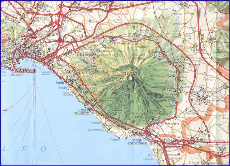 Map Of Napoli Maps Graphs Charts Pinterest Naples Italy - Mount vesuvius map
