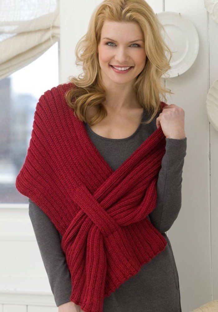 Ribbed Slit Shawl in Red Heart Soft Solids - WR2158. Discover more Patterns by Red Heart Yarns at LoveKnitting. The world's largest range of knitting supplies - we stock patterns, yarn, needles and books from all of your favorite brands.