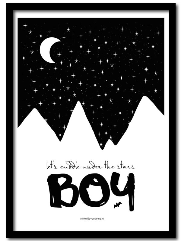 Cuddle under the stars boy | A4 www.winkeltjevananne.nl #poster