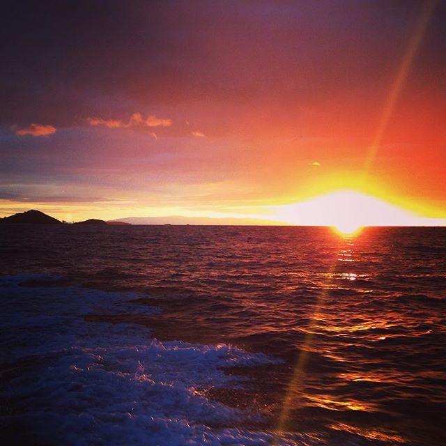 Amazing #sunrise on the boat at #Madagascar! Photo credits: @piemme85makeupobsession