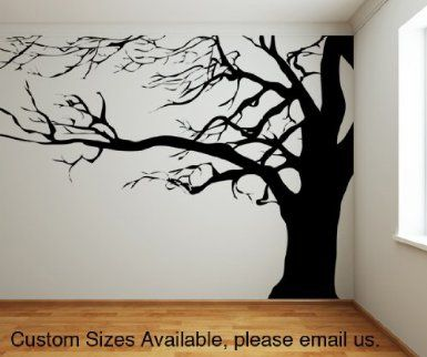 Awesome Black Tree With Birds Wall Decal Part 10