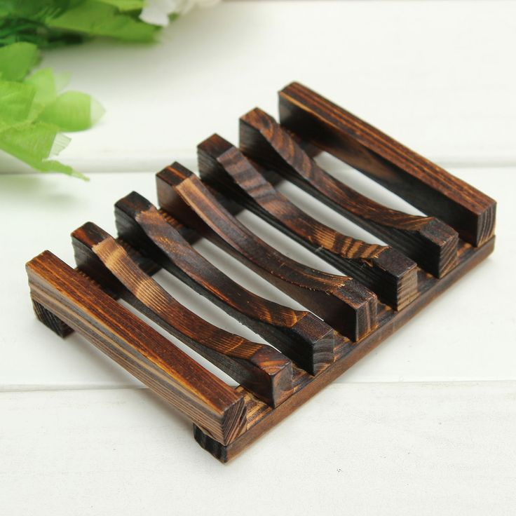 Beautiful Design Trapezoid 10.8x8x2.5cm Wooden Handmade Bathroom Wood Soap Dish Box Container Tub Storage Cup Rack Durable