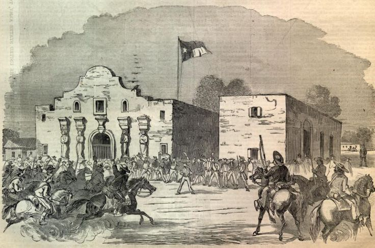 MARCH 6, 1836:  Battle of the Alamo. Mexican Troops, led by Gen. Santa Anna, surrounded and stormed the Alamo.