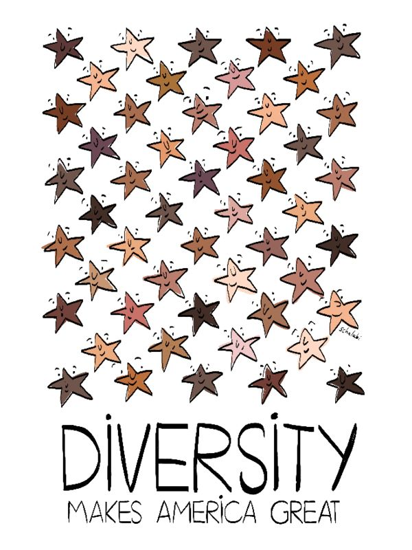 "Artist Statement""Ethnic and racial diversity is what makes America great. What I love about America the most is that one can experience a multitude of different"