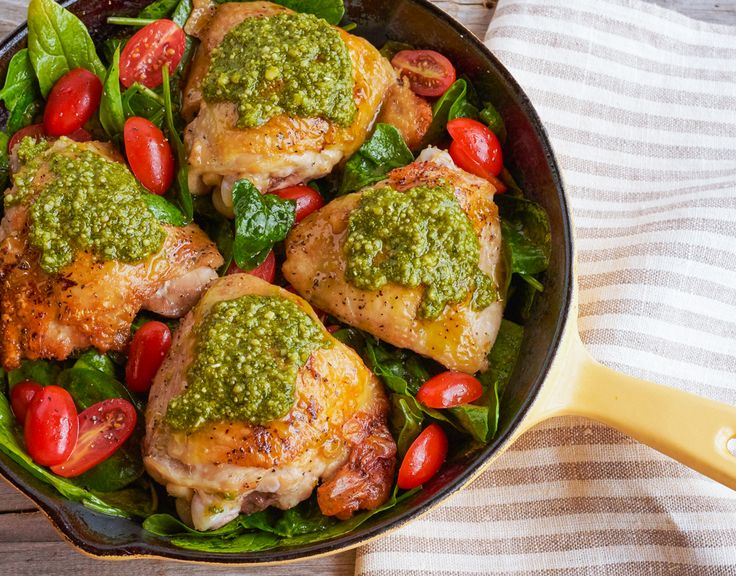 63 best healthy chicken recipes images on pinterest healthy eating impress family and friends with this one skillet italian inspired pesto chicken made forumfinder Choice Image