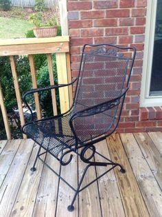 DIY: How To Paint A Vintage Wrought Iron Chair Ideas