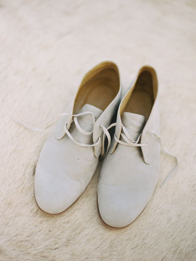 Boho chic mens shoes: http://www.stylemepretty.com/2016/09/29/guests-stayed-in-safari-tents-for-their-desert-chic-wedding/ Photography: Brumley and Wells - http://brumleyandwells.com/