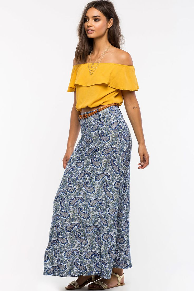 Monaco Belted Maxi Skirt