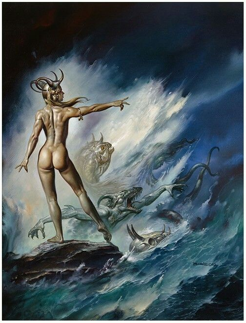 Sea Creatures by Boris Vallejo