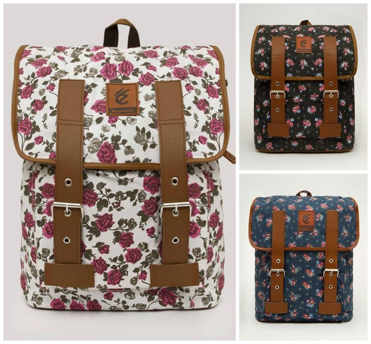 "Stylish Flower Shabby Laptop MacBook Bag 14"" School Backpack Travel Rucksack 
