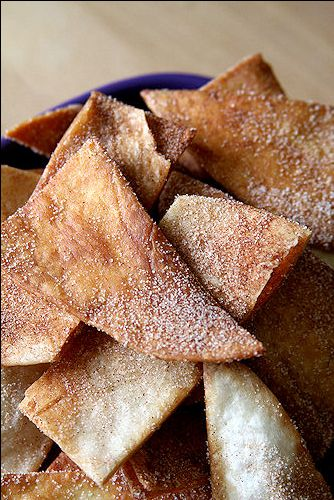 Buñuelos (Fried tortilla strips with cinnamon and sugar). My mom used to make these all the time growing up, and they are delicious.