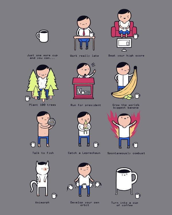 LOL: Amazing Things Could Happen After An Extra Cup Of Coffee - DesignTAXI.com