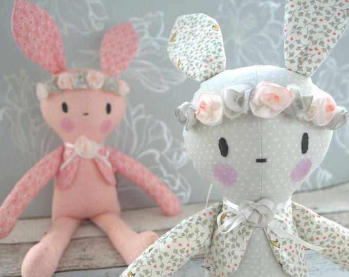 PDF sewing pattern Doll, soft toy, Bunny , 'BOBBY BUNNY' Dolly