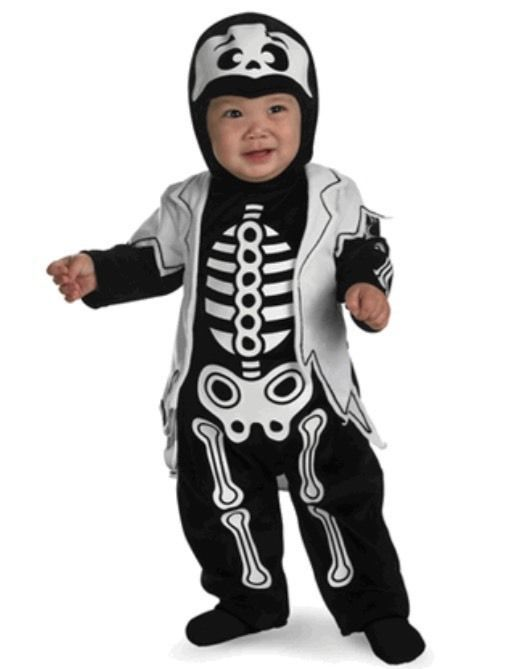 lil bones one piece infant halloween costume 12 18 months attached hood jacket - Where To Buy Infant Halloween Costumes
