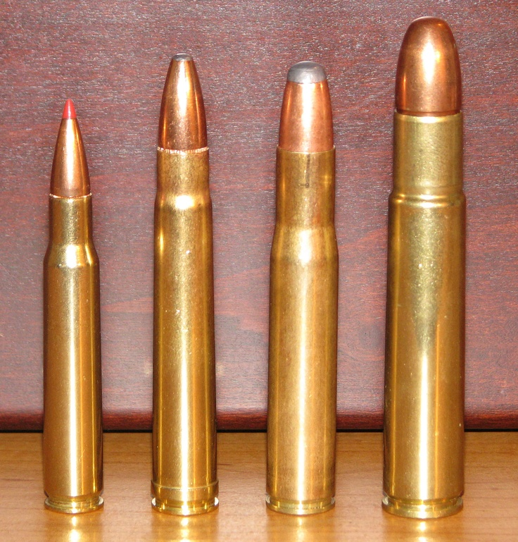 .30-06 Springfield, .375 Holland & Holland Magnum, .404 Jeffrey and .505 Gibbs.