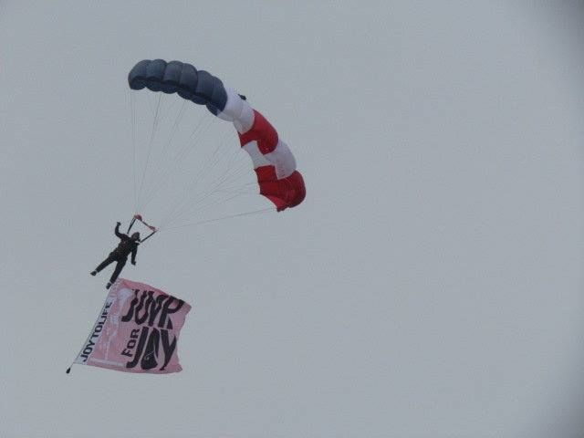 The Aerial Extreme Skydiving Team have performed at international events that include professional sporting events, business grand openings, rodeos, festivals, and charity events. http://www.skydiveaerialextreme.com/about-aerial-extreme-skydiving-team/