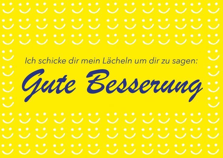 Ich schicke dir mein Lächeln | Gute Besserung | Echte Postkarten online versenden | MyPostcard.com