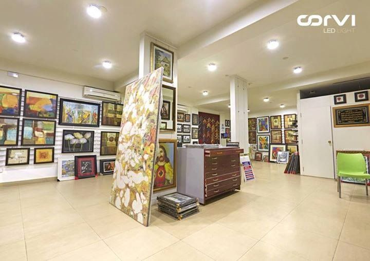 #Corvi #LED #light at art gallery, #India #CorviLEDLight
