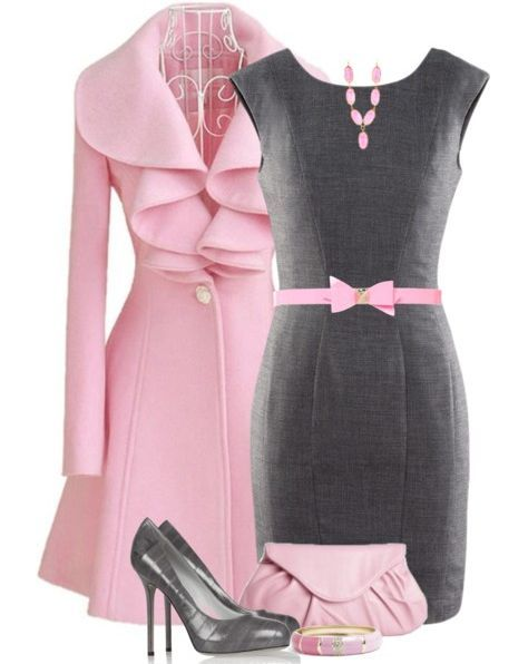 """Women Pink Fit Trench, I would replace that faux pink necklace with Beauchamp Place - Pearl Necklace, to style this classy outfit to look more #Audrey-like"""". What do you think? https://naughtonbraun.com/beauchamp-place-pearl-necklace/"""