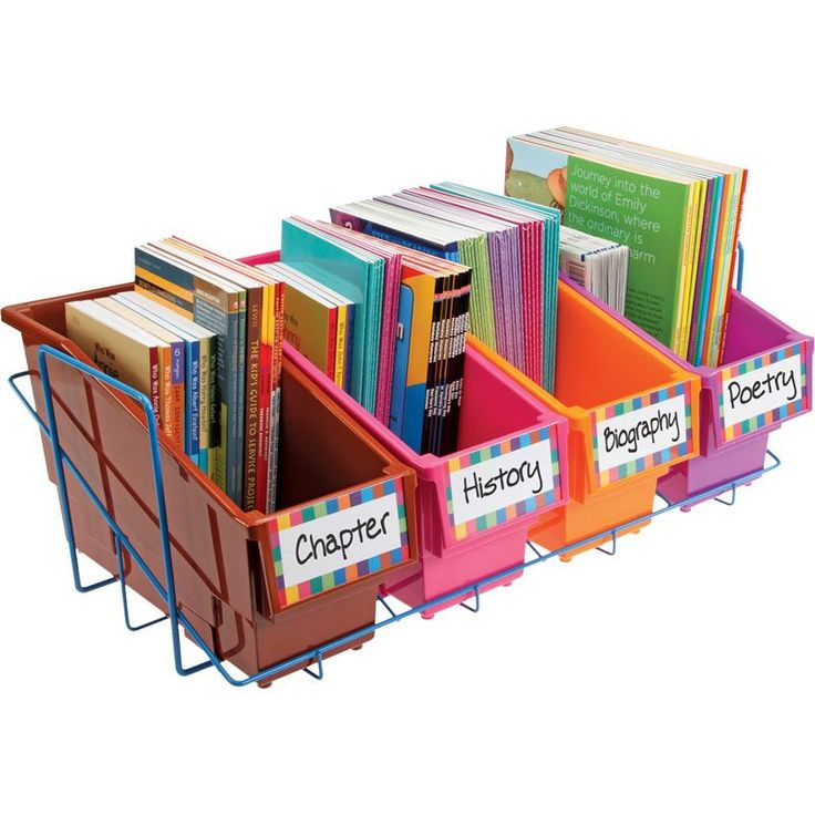 Store More® Durable Book And Binder Holders With