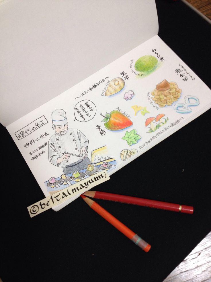 松江 喫茶きはるの和菓子。  現代の名工 伊丹二夫氏のお菓子。