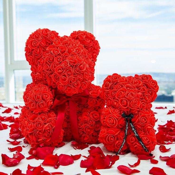 Red Rose Bear Red teddy bear, Rose, Teddy bear gifts