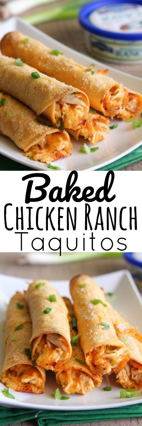 Baked Chicken Ranch Taquitos - Only a few ingredients are needed to create such amazing flavor in these taquitos. @Litehousefoods #ad