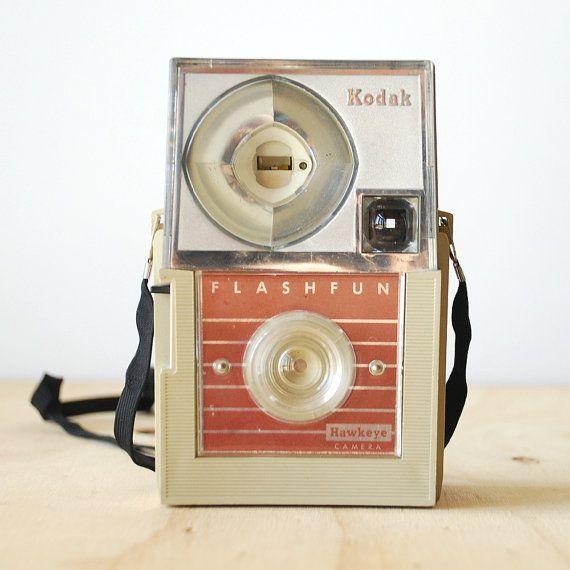Vintage Kodak Flashfun Hawkeye Camera 1960s Mid Century Modern Retro Design