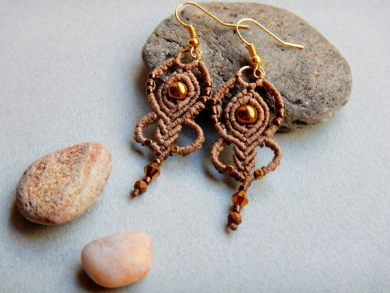 Hey, I found this really awesome Etsy listing at https://www.etsy.com/listing/494410712/macrame-earrings-bronze-hematite-beads