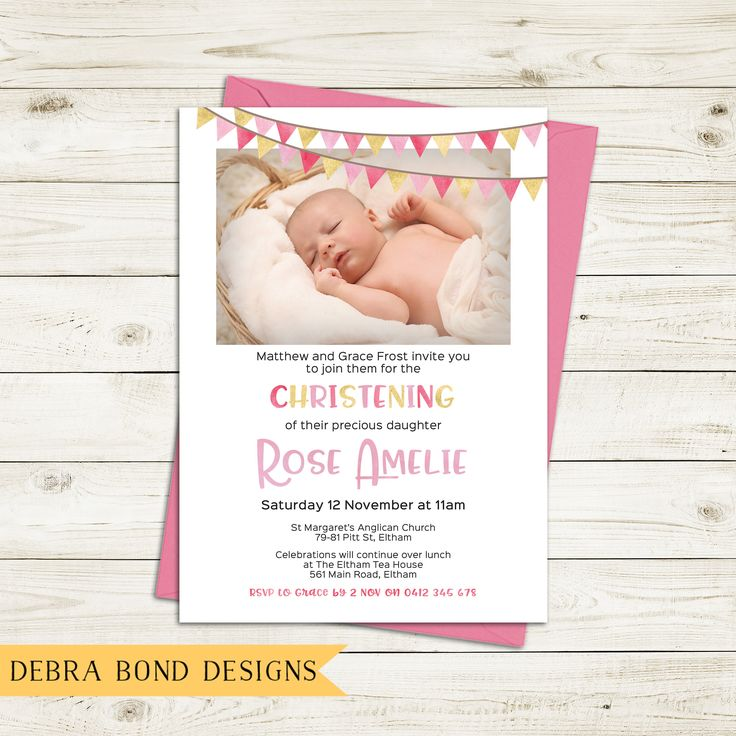 21 best Christening and Baptism Invitations images on Pinterest ...