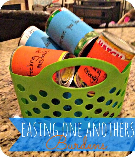 Blue Skies Ahead: Bearing Each Other's Burdens {Alma Baptizes} Family Home Evening