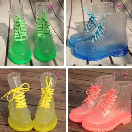 clear doc martin style rain boot by emporiumemporium on Etsy, $35.00