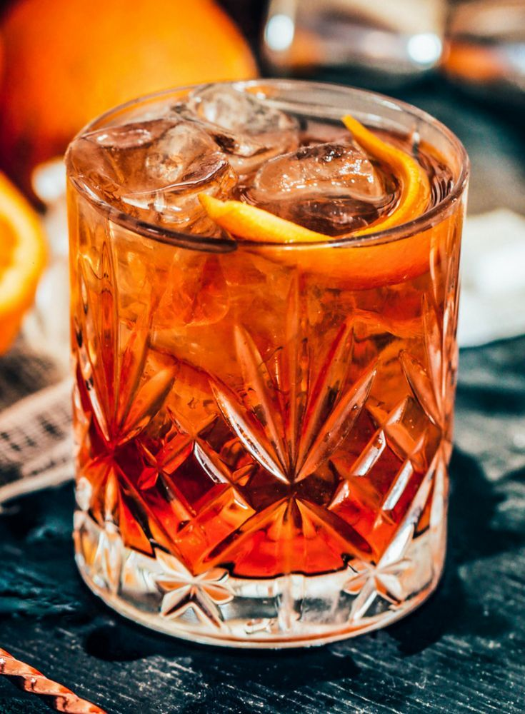 The Bourbon Old Fashioned. 5 Mixed Drinks Recipes Every Guy Should Try At Least Once. Cocktails for men | manly cocktails | bourbon cocktail.