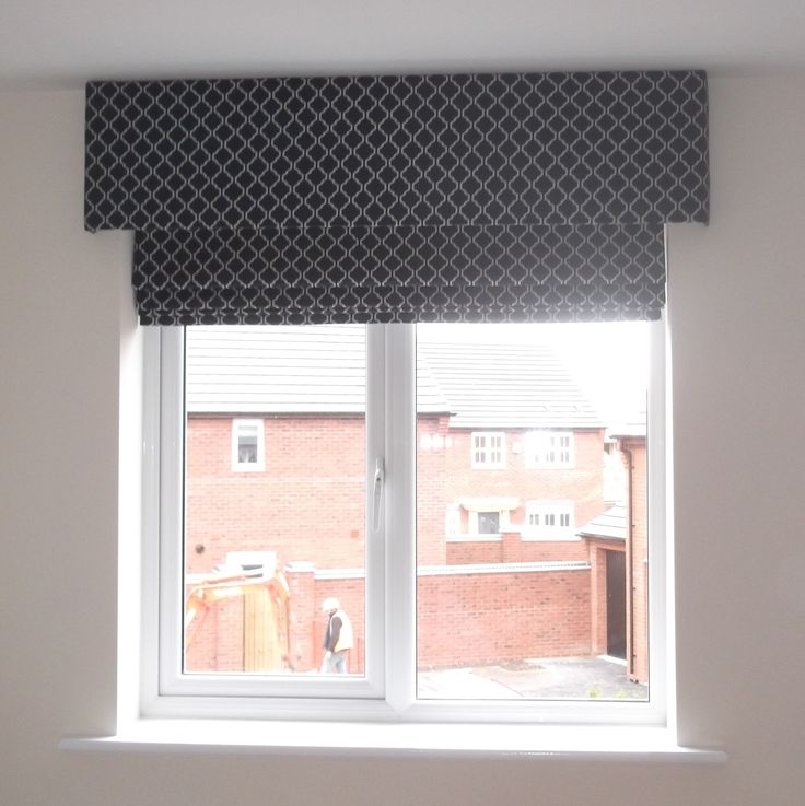 Roman blind with pelmet very smart finish window for Smart window shades