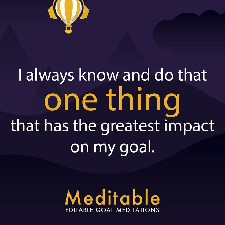 Focus on your #onething • Meditable the first editable goal meditation application is soon available on App Store, follow for launch date #meditation #meditate #goals #goalmeditation #productivity #relax #relaxation #visualize #meditable #affirmations