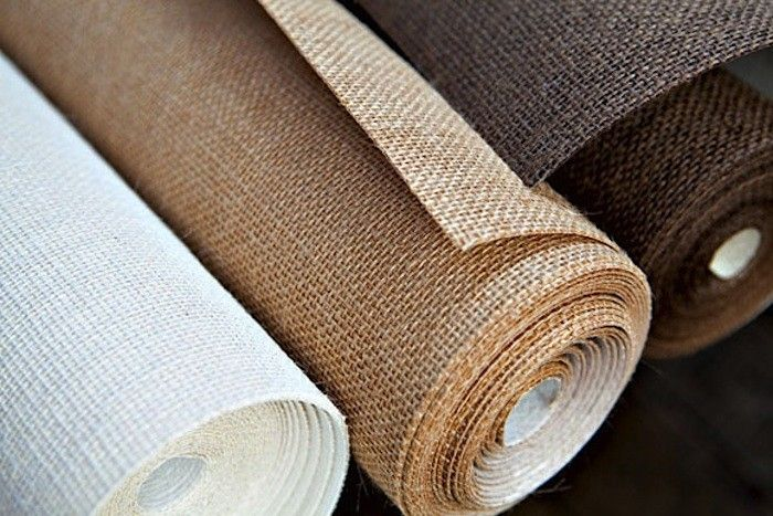 burlap hemp wall covering rolls house in 2019 burlap on wall coverings id=78859