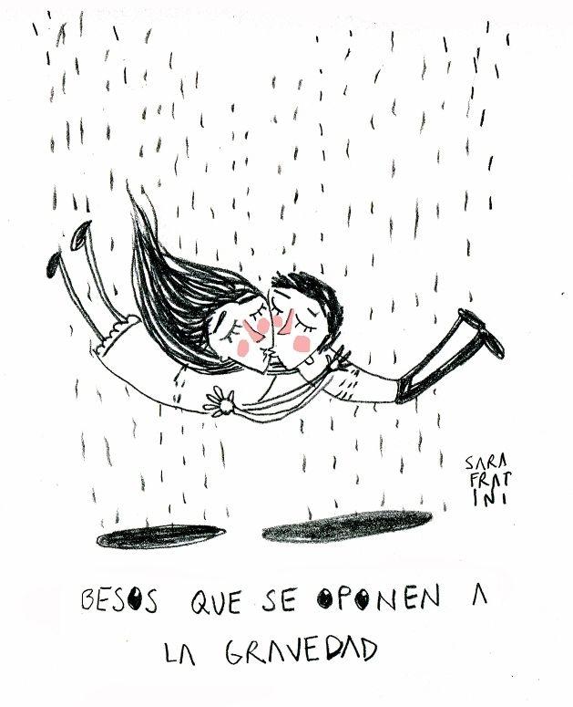"""""""Besos que se oponen a la gravedad"""" Por Sara Fratini"""