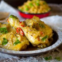 Milde witte kip curry recept