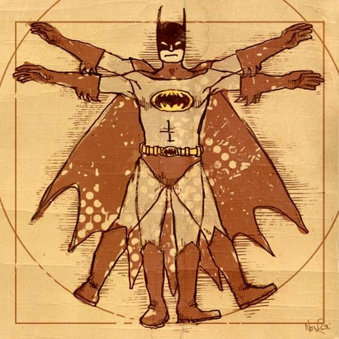 vitruvian batman- maybe choose fav character?