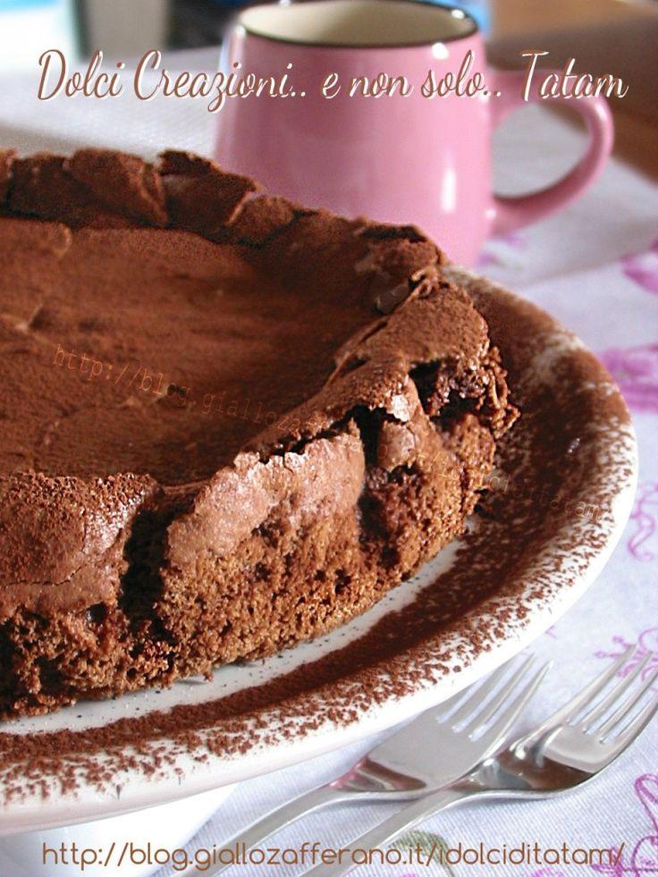 Torta cioccolatino dal cuore fondente, senza farina e lievito