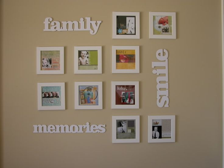 scrapbook wall art: Wall Art, Craft, Photo Display, Decorating Ideas, Photo Wall, Wall Decoration, Family Room, Picture Frames, Wall Ideas