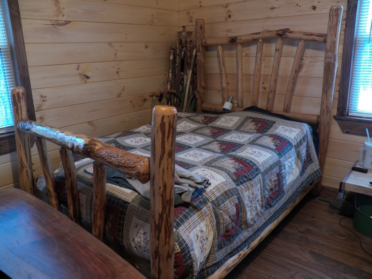 (1 Of 5) My Sourwood Bed: Full Size Bed That I Made In