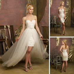 Este vestido de novia convertible es ideal para usar de día, vean este y muchos modelos más en www.facebook.com/ModaImportadaNovias