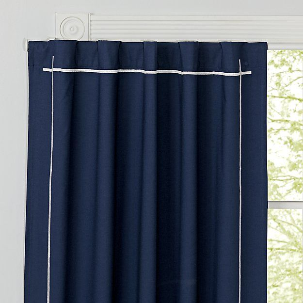 Genevieve Gorder 96 Navy Blackout Curtain Crate And Barrel