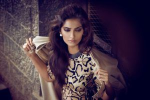 Sonam Kapoor Flaunts Deep Cleavage In Vogue India September 2014 Photoshoot