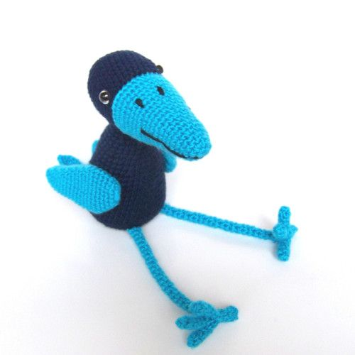 crow crocheted figure