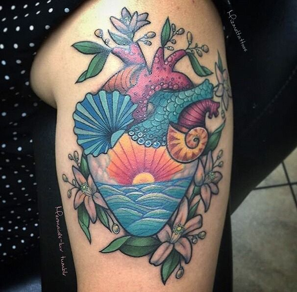 Mermaids and tropical tattoos