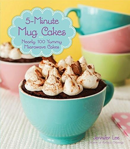 5 Minute Mug Cakes - a quick and easy way to get dessert into your belly! Win a copy of this cookbook! #mugcakes #easydesserts #giveaway