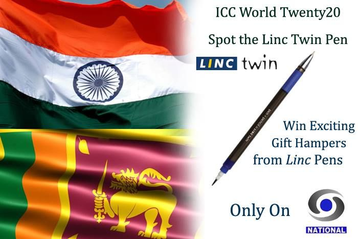 Watch today's match only on DD National and participate in the 'Spot the Linc Twin Pen' Contest. How many times will the Linc Twin Pen commercial be shown during today's match on DD National? a) 5 b) 7 c) 10 d) 13 Write the correct answer on the Comment Section Below and get a chance to win attractive Gift Hampers from Linc Pens. Also tell us the over in which you spot our commercial and win special prizes too